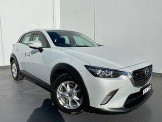 2016 Mazda CX-3 DK2W7A Maxx SKYACTIV-Drive White Silver 6 Speed Sports Automatic Wagon.