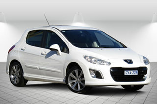 2012 Peugeot 308 T7 MY12 Active Alfa White 6 Speed Sports Automatic Hatchback.