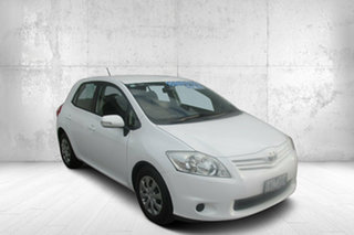 2011 Toyota Corolla ZRE152R MY11 Ascent White 6 Speed Manual Hatchback.