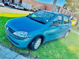 2001 Holden Barina XC SRi Blue 5 Speed Manual Hatchback.