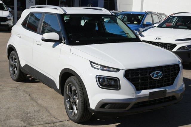 New Hyundai Venue QX.V3 MY21 Active Beaudesert, 2021 Hyundai Venue QX.V3 MY21 Active Polar White 6 Speed Automatic Wagon