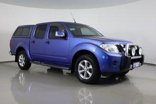 2012 Nissan Navara D40 ST (4x4) Blue 5 Speed Automatic Dual Cab Pick-up.