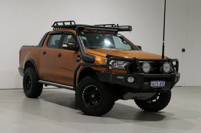Used Ford Ranger PX MkII Wildtrak 3.2 (4x4) Bentley, 2016 Ford Ranger PX MkII Wildtrak 3.2 (4x4) Orange 6 Speed Automatic Dual Cab Pick-up