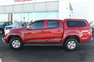 2013 Holden Colorado RG MY13 LX Crew Cab Red 6 Speed Sports Automatic Utility