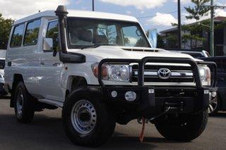 2017 Toyota Landcruiser VDJ78R GXL Troopcarrier White 5 Speed Manual Wagon.