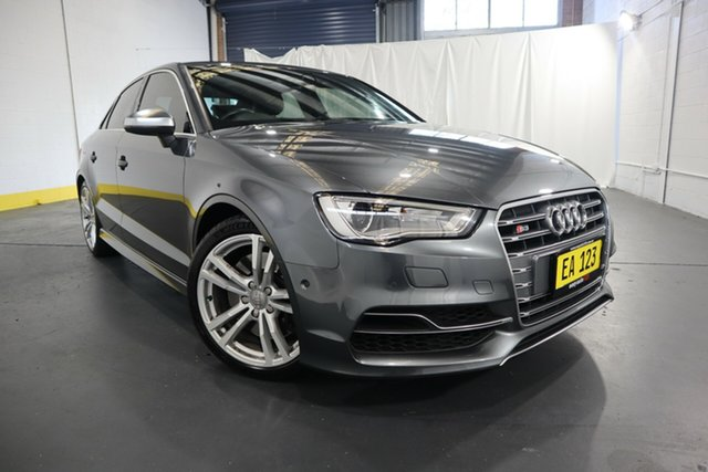Used Audi S3 8V MY16 S Tronic Quattro Castle Hill, 2016 Audi S3 8V MY16 S Tronic Quattro Grey 6 Speed Sports Automatic Dual Clutch Sedan
