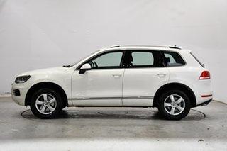 2011 Volkswagen Touareg 7P MY12 150TDI Tiptronic 4MOTION Campanella White 8 Speed Sports Automatic.