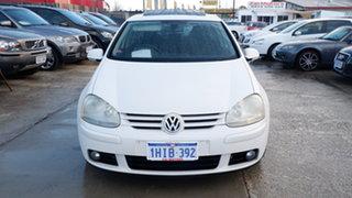 2008 Volkswagen Golf V MY08 Pacific White 6 Speed Manual Hatchback.