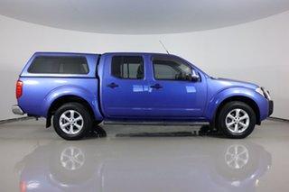2012 Nissan Navara D40 ST (4x4) Blue 5 Speed Automatic Dual Cab Pick-up