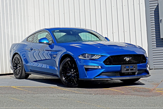 Used Ford Mustang FN 2020MY GT Springwood, 2020 Ford Mustang FN 2020MY GT Blue 10 Speed Sports Automatic Fastback