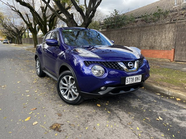 Pre-Owned Nissan Juke F15 Series 2 ST X-tronic 2WD Hawthorn, 2016 Nissan Juke F15 Series 2 ST X-tronic 2WD Blue 1 Speed Constant Variable Hatchback