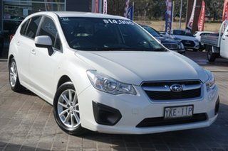 2014 Subaru Impreza G4 MY14 2.0i Lineartronic AWD White 6 Speed Constant Variable Hatchback.