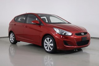 2018 Hyundai Accent RB6 MY18 Sport Red 6 Speed Automatic Hatchback.