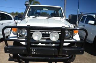 1993 Toyota Landcruiser HZJ75RP (4x4) White 5 Speed Manual 4x4 Cab Chassis.
