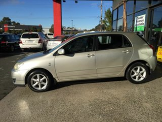 2005 Toyota Corolla ZZE122R Conquest Silver 5 Speed Manual Hatchback.