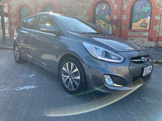2016 Hyundai Accent RB4 MY16 SR Sonic Silver 6 Speed Sports Automatic Hatchback.