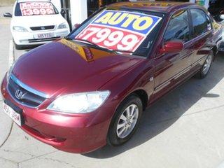 2005 Honda Civic 7th Gen MY2004 GLi Red 4 Speed Automatic Sedan.