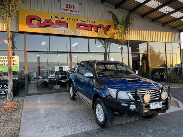 Used Toyota Hilux KUN26R MY12 SR5 (4x4) Traralgon, 2012 Toyota Hilux KUN26R MY12 SR5 (4x4) Blue 4 Speed Automatic Dual Cab Pick-up