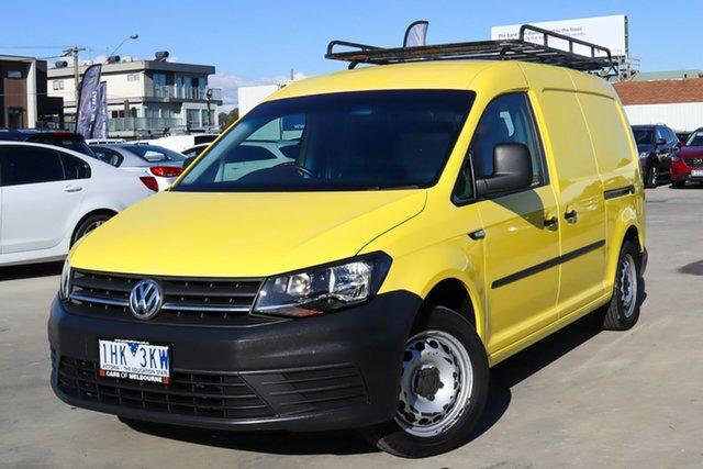 Used Volkswagen Caddy 2KN MY16 TSI220 Maxi DSG Coburg North, 2016 Volkswagen Caddy 2KN MY16 TSI220 Maxi DSG Yellow 7 Speed Sports Automatic Dual Clutch Van