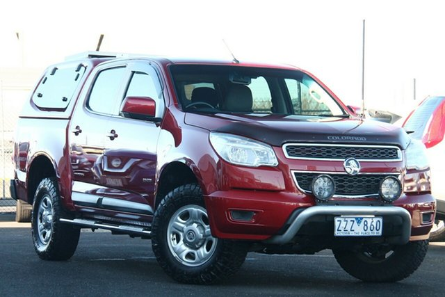 Used Holden Colorado RG MY13 LX Crew Cab Essendon Fields, 2013 Holden Colorado RG MY13 LX Crew Cab Red 6 Speed Sports Automatic Utility
