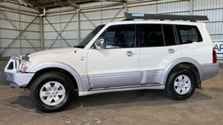2003 Mitsubishi Pajero NP MY04 Exceed White 5 Speed Sports Automatic Wagon.