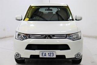 2013 Mitsubishi Outlander ZJ LS (4x4) White Continuous Variable Wagon.