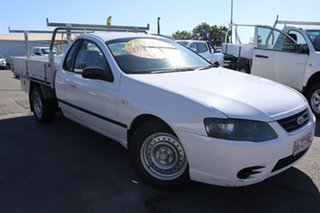 2006 Ford Falcon BF XL Super Cab White 4 Speed Sports Automatic Cab Chassis.