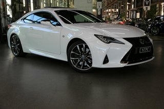 2019 Lexus RC GSC10R RC350 F Sport White 8 Speed Sports Automatic Coupe.