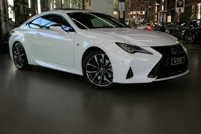 Used Lexus RC GSC10R RC350 F Sport North Melbourne, 2019 Lexus RC GSC10R RC350 F Sport White 8 Speed Sports Automatic Coupe