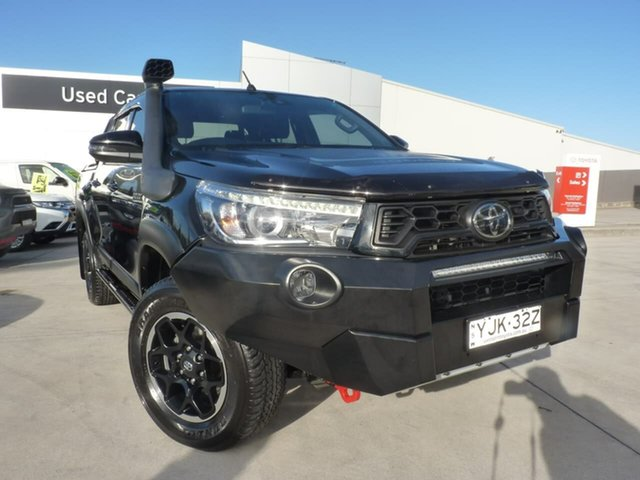 Pre-Owned Toyota Hilux GUN126R Rugged X Double Cab Blacktown, 2019 Toyota Hilux GUN126R Rugged X Double Cab Black 6 Speed Sports Automatic Utility