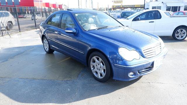 Used Mercedes-Benz C-Class W203 MY2005 C200 Kompressor Classic St James, 2005 Mercedes-Benz C-Class W203 MY2005 C200 Kompressor Classic Blue 5 Speed Sports Automatic Sedan