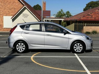 2016 Hyundai Accent RB4 MY16 Active Silver 6 Speed Manual Hatchback.