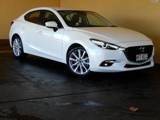 2017 Mazda 3 BN MY17 SP25 GT White 6 Speed Automatic Sedan