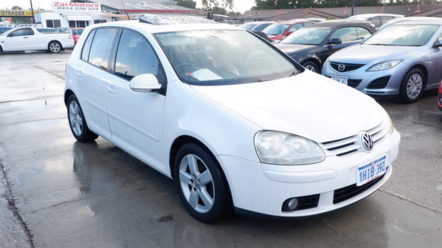 Used Volkswagen Golf V MY08 Pacific St James, 2008 Volkswagen Golf V MY08 Pacific White 6 Speed Manual Hatchback
