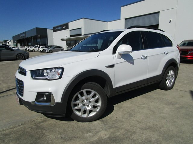 Used Holden Captiva CG MY16 Active 2WD Caboolture, 2016 Holden Captiva CG MY16 Active 2WD White 6 Speed Sports Automatic Wagon