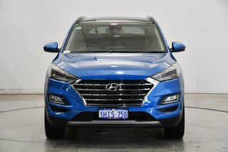 2020 Hyundai Tucson TL3 MY21 Highlander D-CT AWD Aqua Blue 7 Speed Sports Automatic Dual Clutch.
