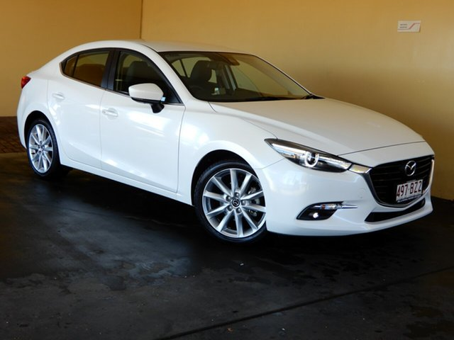 Used Mazda 3 BN MY17 SP25 GT Toowoomba, 2017 Mazda 3 BN MY17 SP25 GT White 6 Speed Automatic Sedan