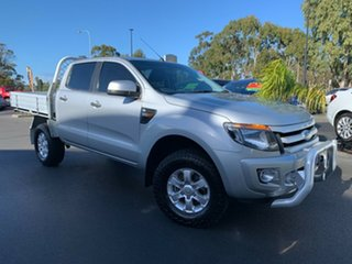 2015 Ford Ranger PX XLS Double Cab Silver 6 Speed Sports Automatic Utility.