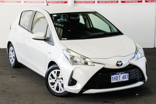 2020 Toyota Yaris NCP130R MY18 Ascent Crystal Pearl 4 Speed Automatic Hatchback.