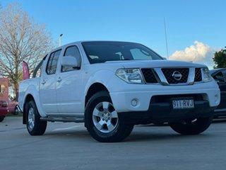 2011 Nissan Navara D40 ST White 5 Speed Automatic Utility.