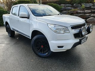 2014 Holden Colorado RG MY14 LX Crew Cab White 6 Speed Sports Automatic Utility.