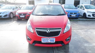 2013 Holden Barina Spark MJ MY13 CD Red 4 Speed Automatic Hatchback.