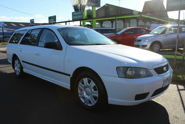 Used Ford Falcon BF Mk II XT West Footscray, 2006 Ford Falcon BF Mk II XT White 4 Speed Sports Automatic Wagon