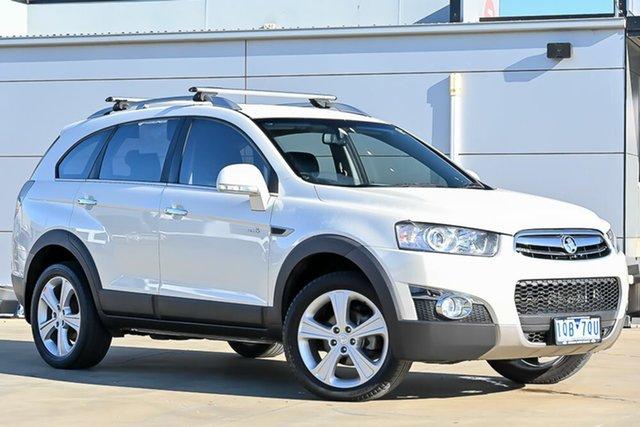 Used Holden Captiva CG Series II 7 AWD LX Pakenham, 2012 Holden Captiva CG Series II 7 AWD LX White 6 Speed Sports Automatic Wagon