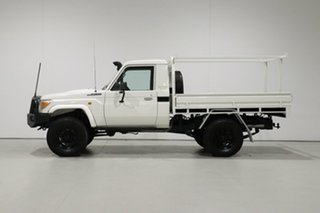2008 Toyota Landcruiser VDJ79R Workmate (4x4) White 5 Speed Manual Cab Chassis