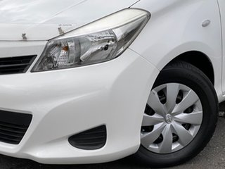 2012 Toyota Yaris NCP130R YR White 4 Speed Automatic Hatchback