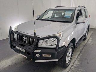 2010 Toyota Landcruiser Prado KDJ150R GXL Silver 6 Speed Manual Wagon.