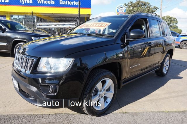 Used Jeep Compass MK MY13 Sport CVT Auto Stick Dandenong, 2013 Jeep Compass MK MY13 Sport CVT Auto Stick Black 6 Speed Constant Variable Wagon