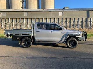 2016 Toyota Hilux GUN126R SR (4x4) Silver Sky 6 Speed Manual Dual Cab Utility.