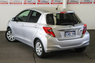 2015 Toyota Yaris NCP131R MY15 SX Silver Pearl 4 Speed Automatic Hatchback.